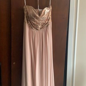 Rose Gold Bridesmaid/Maid of Honor Dress